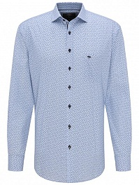 FYNCH-HATTON CASUAL FIT ING 1120 8022 8021 BLUE SQUARES